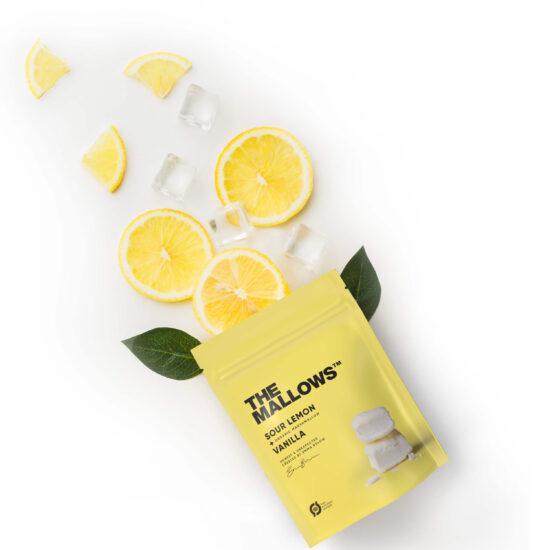The Mallows-Økologiske-skumfiduser-Lemon, citrus smag small marshmallows fra Emma Bülow