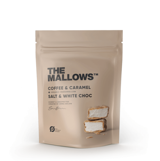 The Mallows-Økologiske-skumfiduser-Classic Raspberry small med hvid chokolade og hindbær fra Emma Bülow
