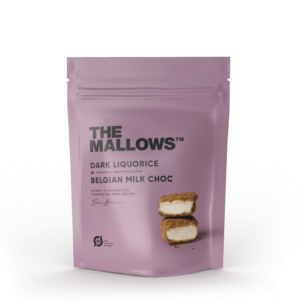 The Mallows-Økologiske-skumfiduser-Dark Liqourice small mælkechokolade og Lakrids, lakridsgranulat fra Emma Bülow