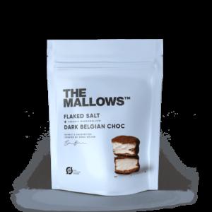The Mallows-Økologiske-skumfiduser- Flaked Salt small med mørk chokolade og maldonsalt fra Emma Bülow