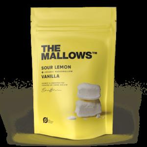 The Mallows-Økologiske-skumfiduser-Lemon, citrus smag stor marshmallows fra Emma Bülow