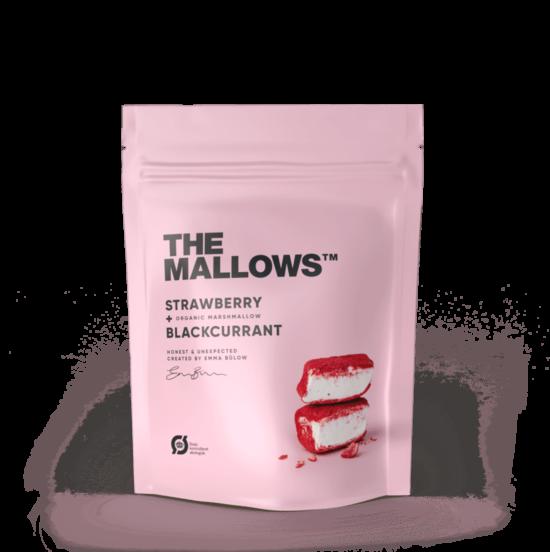 The Mallows-Økologiske-skumfiduser-strayberry & blackcurrant, med jordbær og solbær smag small organic marshmallows fra Emma Bülow