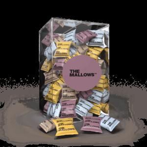 The Mallows enkeltpakkede_Flowpacks-Økologiske-skumfiduser-Dark Liqourice, salted caramel, coffee mælkechokolade og Lakrids, lakridsgranulat, caramel og kaffe fra Emma Bülow
