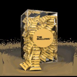 The Mallows Flowpacks-Økologiske-skumfiduser-Salted Caramel og maldonsalt med mælkechokolade, karamel og salt i large fra Emma Bülow