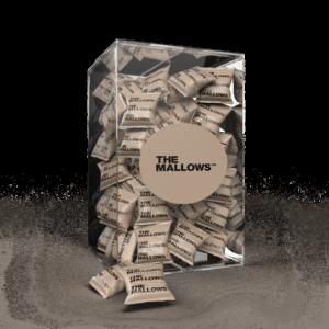 The Mallows Flowpacks-Økologiske-skumfiduser- Coffee Caramel stor med hvid chokolade, karamel kaffe/mocca i fra Emma Bülow
