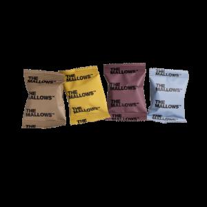 The Mallows Flowpacks-Økologiske-skumfiduser-Dark Liqourice, salted caramel, coffee mælkechokolade og Lakrids, lakridsgranulat, caramel og kaffe fra Emma Bülow